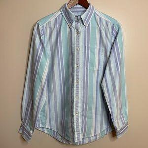 3/$20 L.L. Bean Regular Striped Button Down Shirt